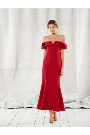 Forever New LULU RUFFLE OFF SHOULDER GOWN
