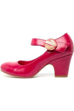 I LOVE BILLY Women Heels - Sharik Raspberry Stripe Shoes Womens Shoes Casual Heeled Shoes