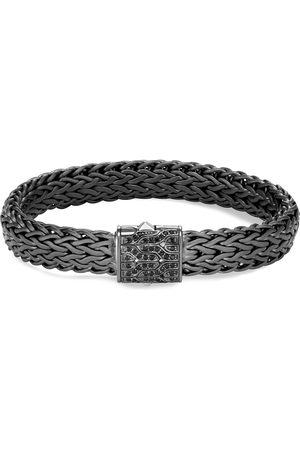 John Hardy Classic Chain' sapphire rhodium silver bracelet
