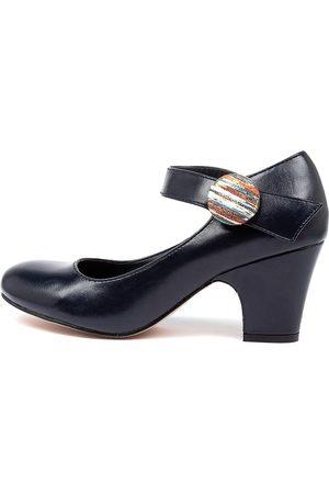 I LOVE BILLY Sharik Navy Stripe Shoes Womens Shoes Casual Heeled Shoes