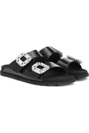 Roger Vivier Slidy Viv' leather slides