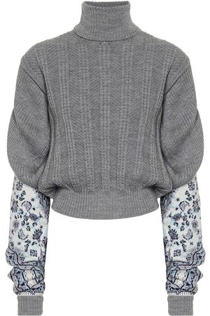 Y / PROJECT Intarsia linen-blend sweater