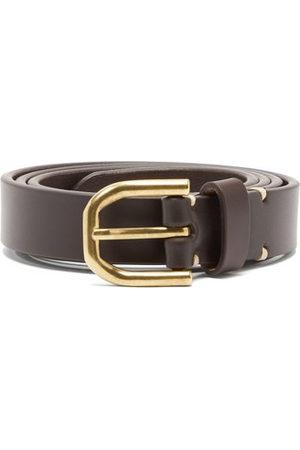 Raey Men Belts - Slim Bridle-leather Belt - Mens