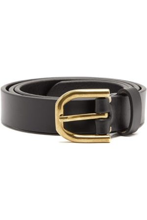 Raey Slim Bridle-leather Belt - Mens