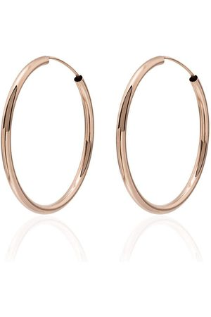 JACQUIE AICHE Gold smooth hoop earrings