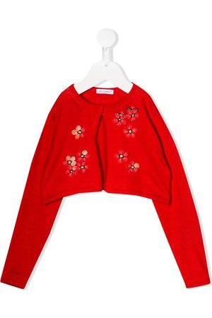 Dolce & Gabbana Kids Embroidered floral cropped cardigan