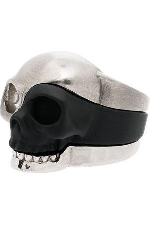 Alexander McQueen Men Rings - Three-piece Skull motif ring