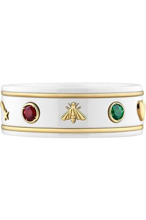 Gucci Rings - 18kt yellow gold Icon gemstone ring