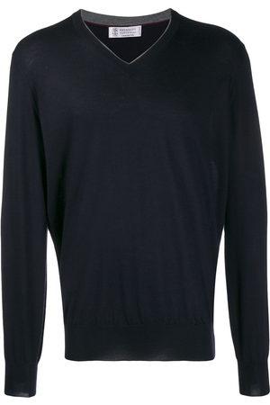Brunello Cucinelli Ribbed V-neck sweater