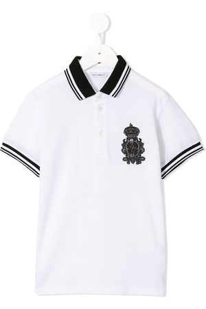 Dolce & Gabbana Embroidered patch polo shirt