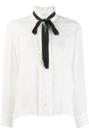 Sandro Women Blouses - Long-sleeved bow blouse