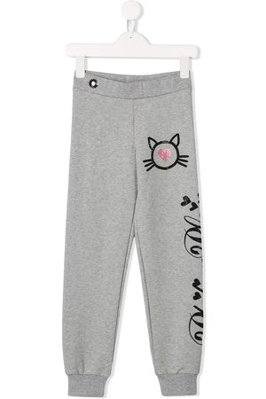 Philipp Plein Crystal Cat track pants