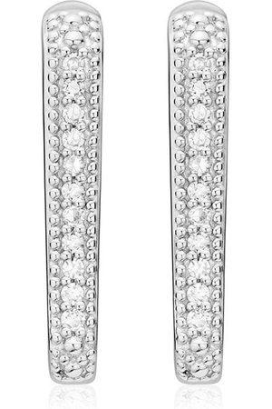 Monica Vinader Alta Capture Huggie Diamond earrings