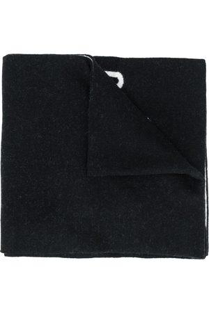 Moschino Intarsia-logo scarf