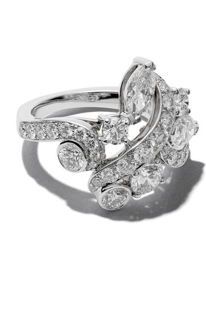 De Beers 18kt Adonis Rose cluster diamond ring