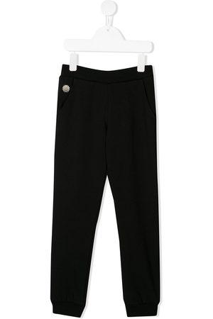 Philipp Plein Heart print studded track pants