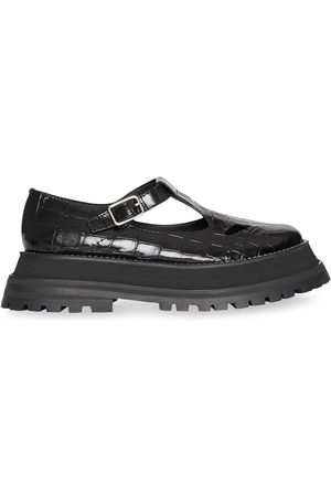 Burberry Women Heels - Crocodile-effect T-bar pumps
