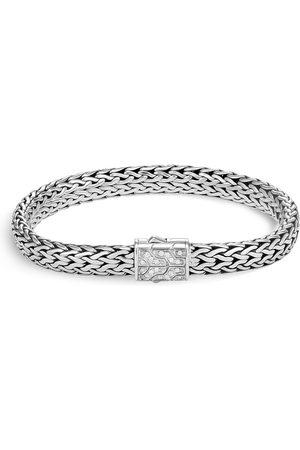 John Hardy Classic Chain' diamond silver medium bracelet