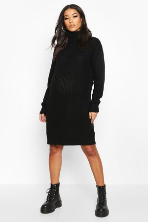 Boohoo Maternity Roll Neck Sweater Dress
