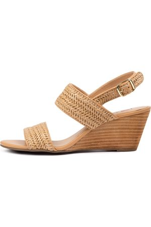 I LOVE BILLY Glyphic Il Natural Natural Sandals Womens Shoes Casual Heeled Sandals
